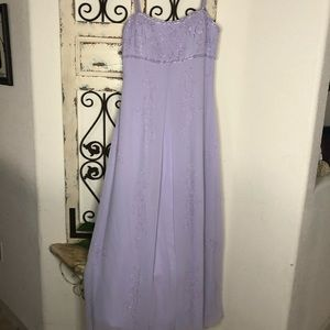 Aspeed lavender hand beaded formal dress w/scarf